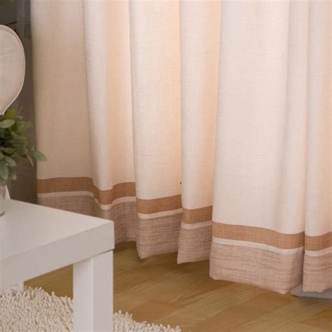 casual curtains for living room light pink linen modern style casual living room curtain
