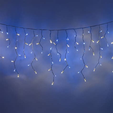 blue icicle lights 100 led blue white icicle lights connectable for outdoor