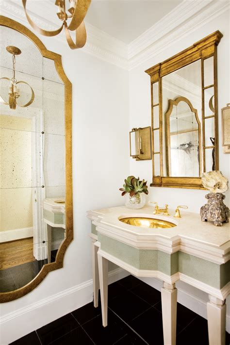 All That Glitters Is Gold 10 Drop Dead Gold Bathrooms Gold Bathroom Mirror