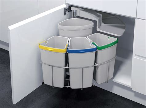 under sink garbage can kitchen trash recycling oko 3 contemporary trash