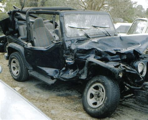 crashed jeep wrangler jeep wrangler car wrecked in wilmington nc