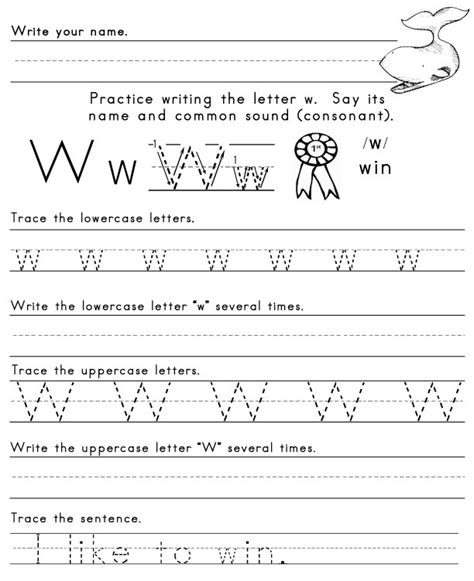 Letter W Worksheets by The Letter W