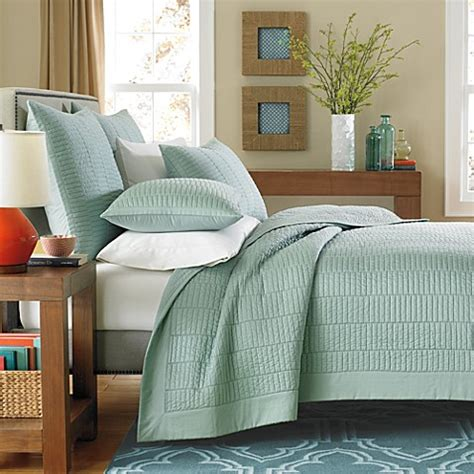 real simple coverlet buy real simple 174 dune full queen coverlet in sea glass