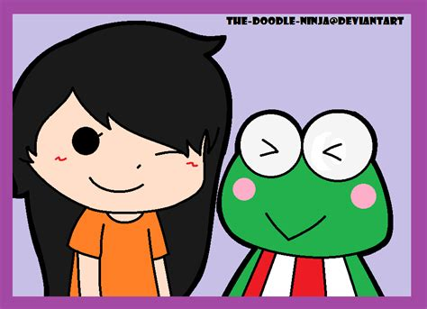 doodle keroppi trade lilwingser and keroppi by the doodle on