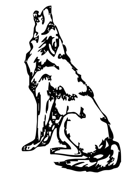 howling wolf coloring pages free realistic wolf coloring pages