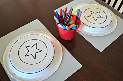 diy decorations using paper plates diy captain america shield craft using paper plates