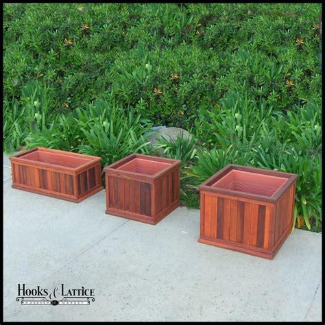 Redwood Planter Box by Redwood Planters Redwood Planter Boxes Hooks Lattice