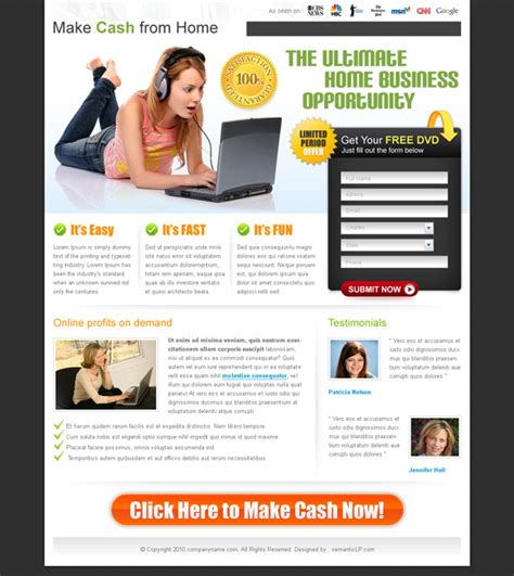 Free Landing Page Design Download From Semanticlp Com Create Free Landing Page Templates