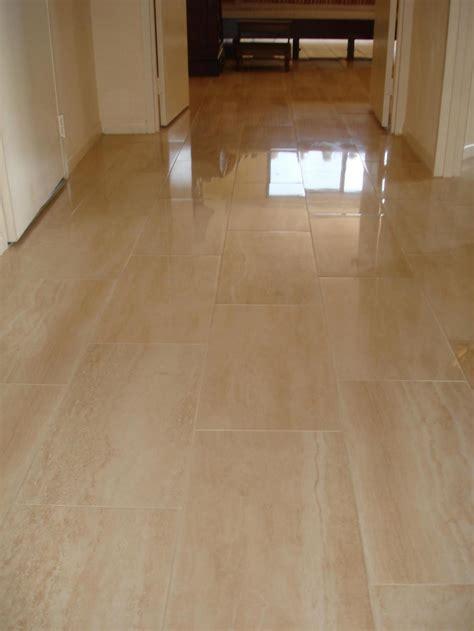Porcelain tile floor in hallway   New Jersey Custom Tile