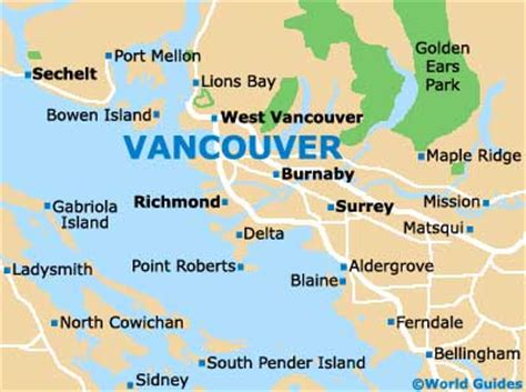 where is vancouver canada on a map map of vancouver airport yvr orientation and maps for