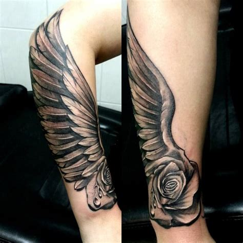 wing arm tattoo best 25 wing arm ideas on half sleeve