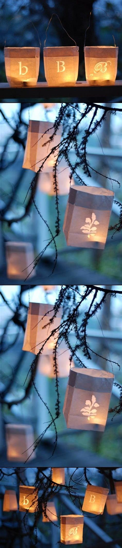How To Make Paper Bag Lanterns - paper bag lanterns paper bags and lanterns on