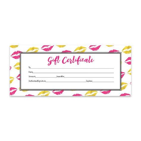 Lipsense Gift Card Template by 1000 Ideas About Printable Gift Certificates On