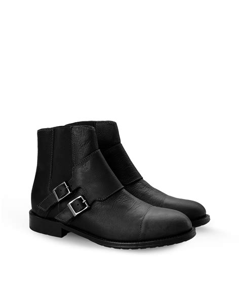 armani boots for lyst armani ankle boots in black for