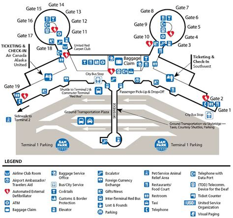 san diego airport map san diego airport parking