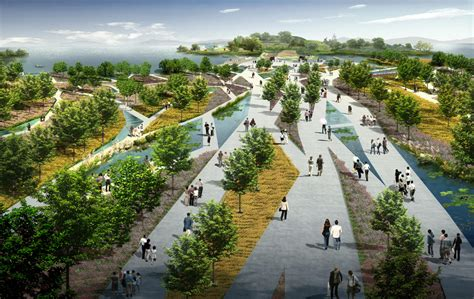flowing gardens the plans for xi an international horticultural expo 2011 architecture