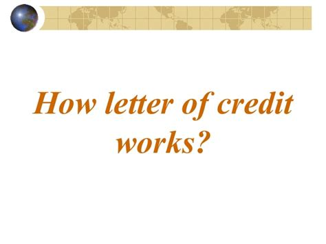 Letter Of Credit Unconfirmed Letter Of Credit