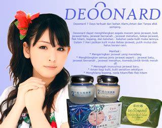 Bedak Deoonard herbal deonard biru pemutih jerawat