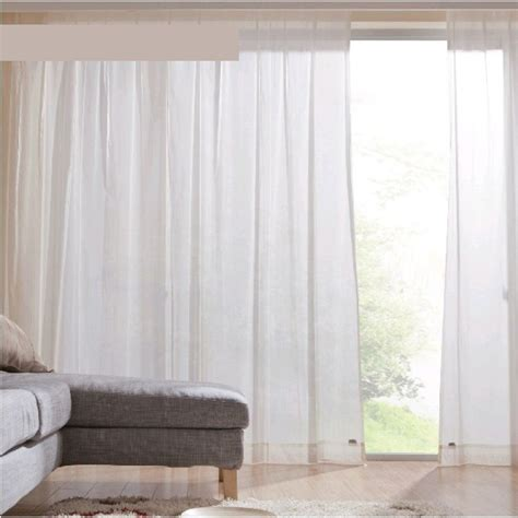 Sheer Curtains White Solid Color Living Room White Home Sheer Curtains