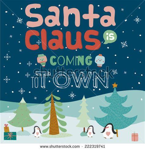 penguin  santa claus  coming  town clipart   cliparts  images