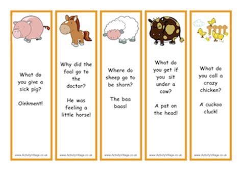 Printable Joke Bookmarks | free printable barn animal joke bookmarks scrapbooking