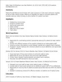 Resume Sample Social Worker by Professional Medical Social Worker Templates To Showcase