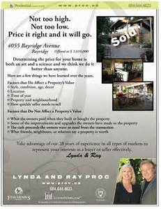 Realtor Marketing ? Do Just Sold Flyers Work? ? Good Ideas