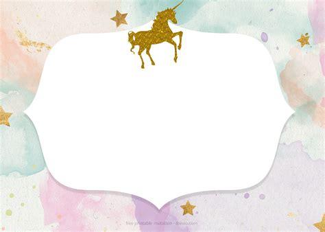 unicorn baby shower invitation templates