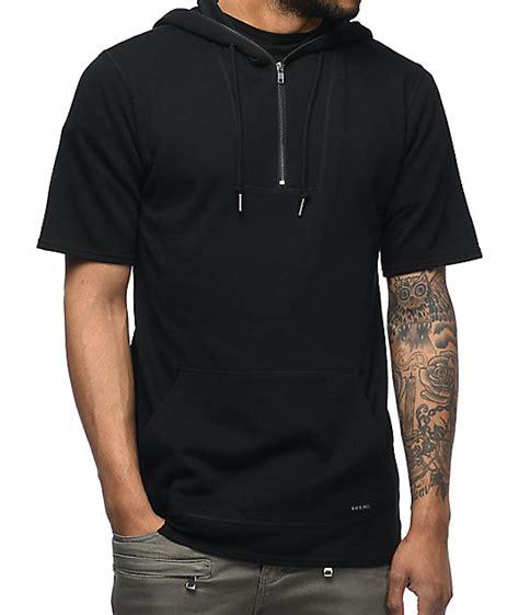 Hoodie Shirt ninth statue quarter zip black sleeve hoodie at