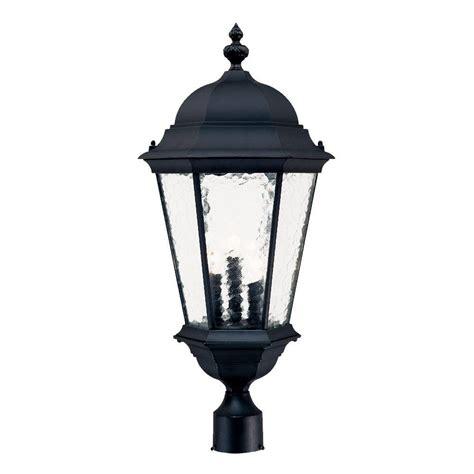 landscape lighting accessories bel air lighting 5 in black square pier mount adaptor for post lantern 100 bk the home depot