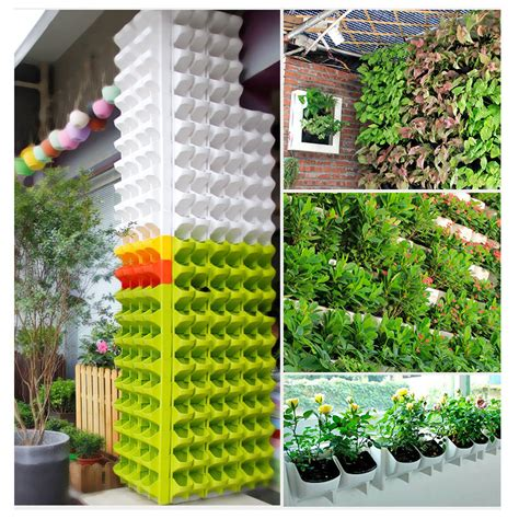stackable 2 pockets vertical wall planter self watering hanging stackable 2 pocket vertical wall planter self watering