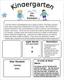 kindergarten classroom newsletter template 9 kindergarten newsletter templates free sle
