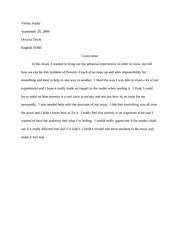 Report Letter Essay Cover Letter 2 For Essay 1 Verina Atalla Professor Davis Honors 1030c Cover Letter I