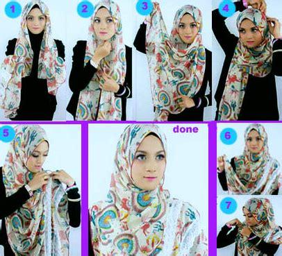 gambar tutorial berhijab modern gambar tutorial hijab modern sehari hari