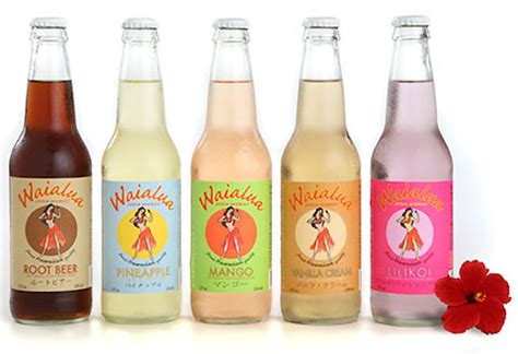Cool Packaging Soda by Cool Bottle Design For Waialua Soda Works