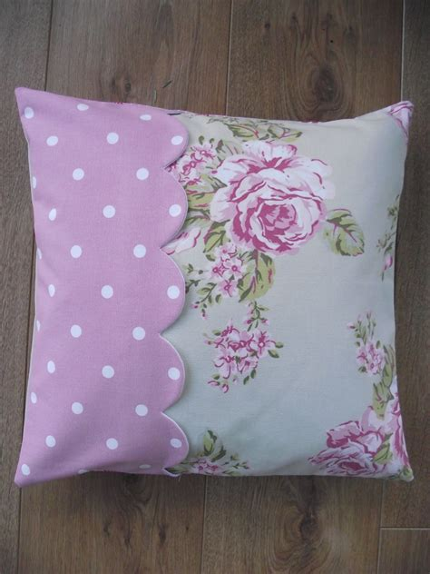 Cushion Handmade - handmade cushion cover in flora dotty and by