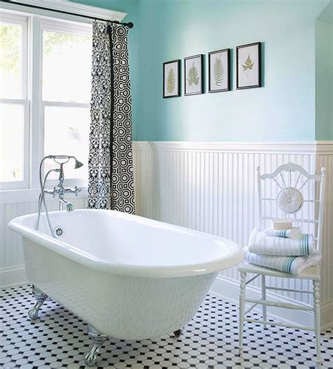 Vintage Black And White Bathroom Ideas | 35 vintage black and white bathroom tile ideas and pictures