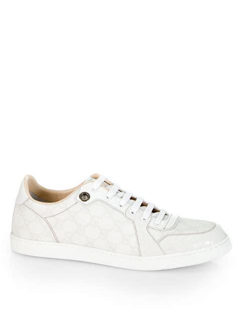 gucci white sneakers gucci coda gg plus sneakers in white for lyst