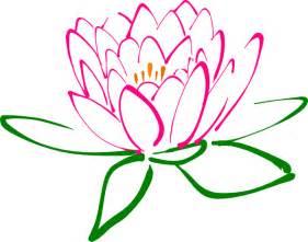 Free Clip Art Lotus Flower - pink lotus clip art at clker com vector clip art online
