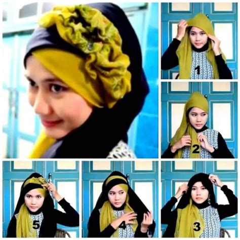 tutorial hijab simple pesta tutorial hijab pesta simple for 2015 just trendy girls