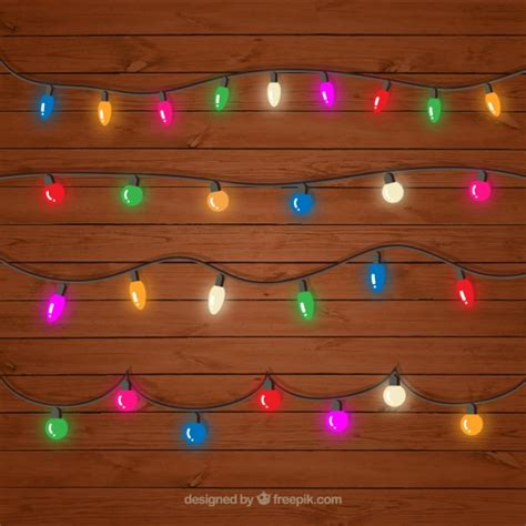 decorative light string decorative colored string lights set vector free