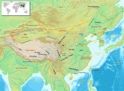 physical map of china 2010 2011 printable relief maps
