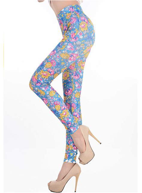Legging Flower multicolour flowers print l6991
