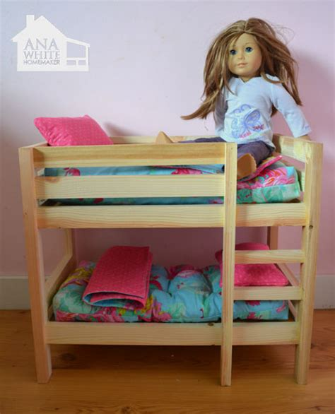 ag doll beds ana white doll bunk beds for american girl doll and 18 quot doll diy projects