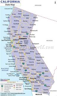 map california cities california cities map free large images