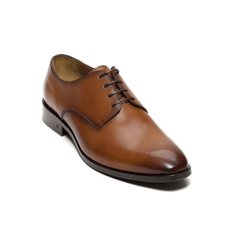 brown dress shoes hilfiger polished leather dress shoe in brown for