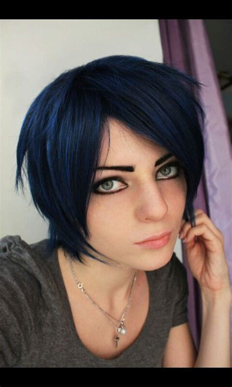 black midnight blue hair midnight blue hair blue hair and midnight blue on pinterest