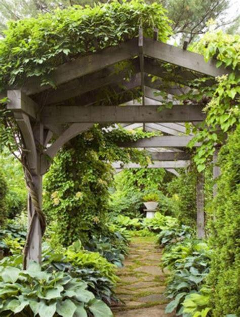 Garden Arbor Path Covered Walkway Arbor Trellis Through Woods Wooded