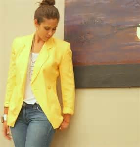 dior blazer womens yellow buttercream linen 1980s fashion
