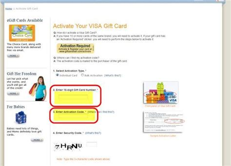 Visa Gift Card Activation - visa debit gift card activation phone number infocard co